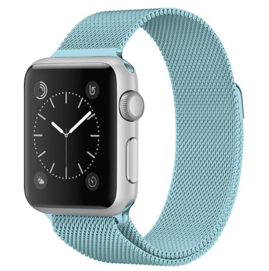 Iwatch cover + milanese loop ice blue