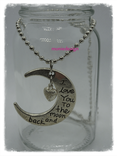 I love you to the moon and back ketting(45cm)