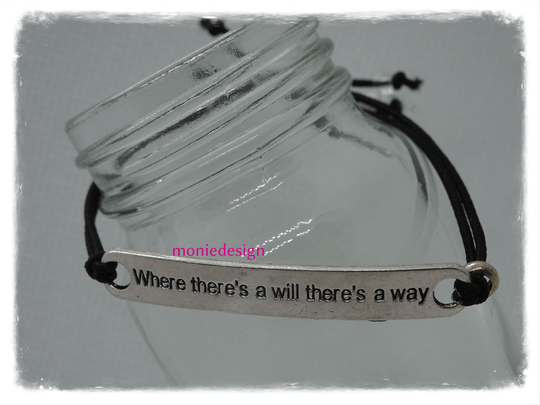 Where there,s is a will there,s a way armbandje