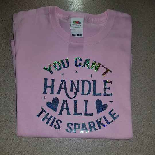 T-shirt meisjes you can,t handle all this sparkle